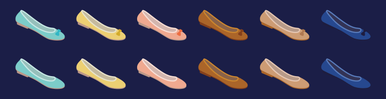 The proposed flat ballet shoe emoji would be available in a variety of colors.