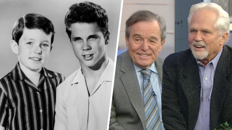 Jerry Mathers and Tony Dow from Leave It To Beaver.