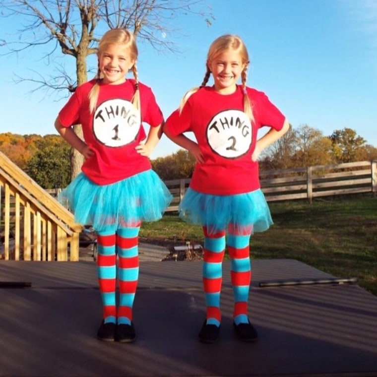 Last-minute DIY kids  Halloween costume  Thing One and Two 017a5d4bf