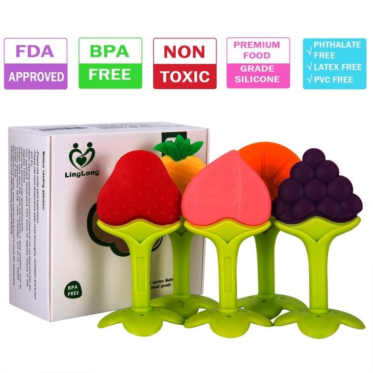 fruit-shaped teething toys
