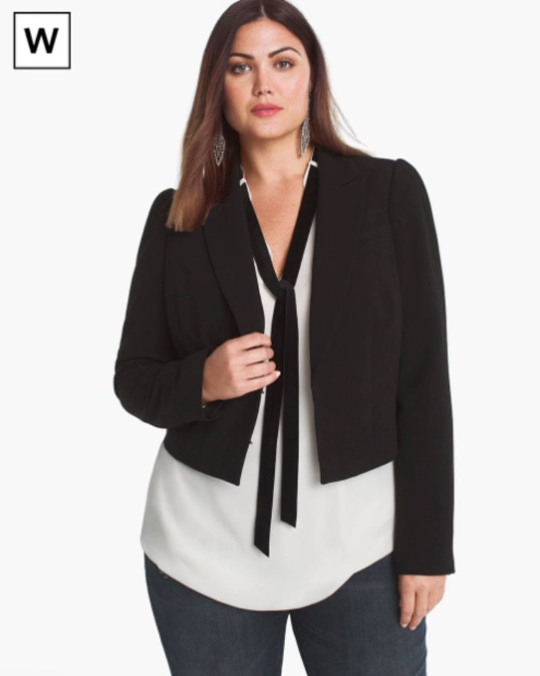 White House Black Market Plus Cropped Blazer