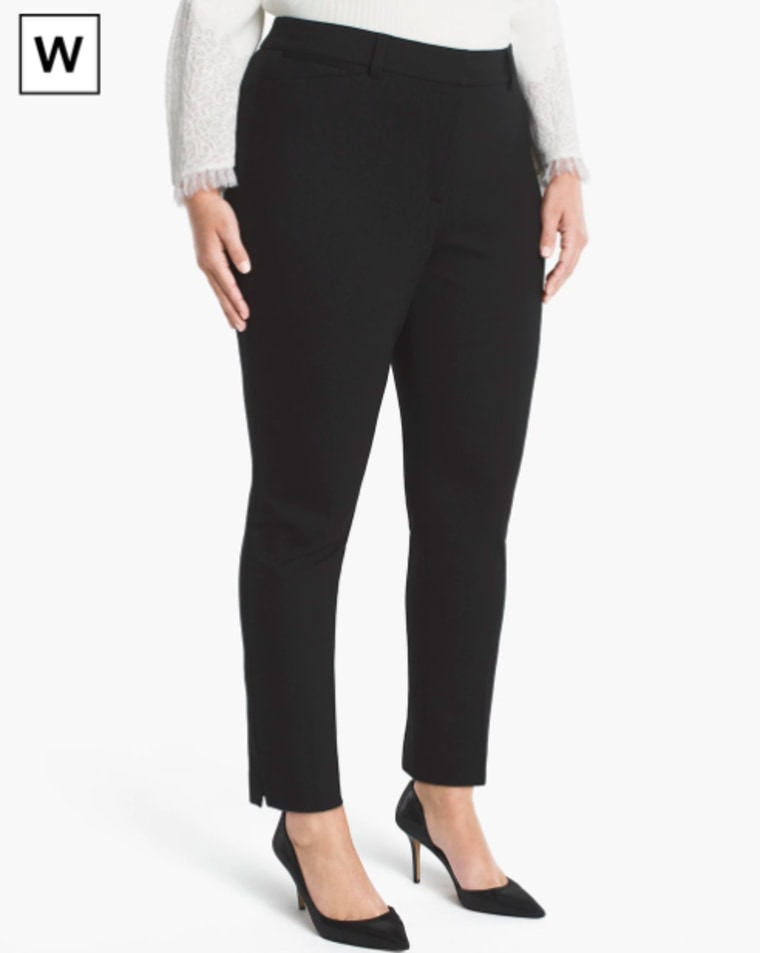 White House Black Market Plus Ponte Slim Ankle Pants