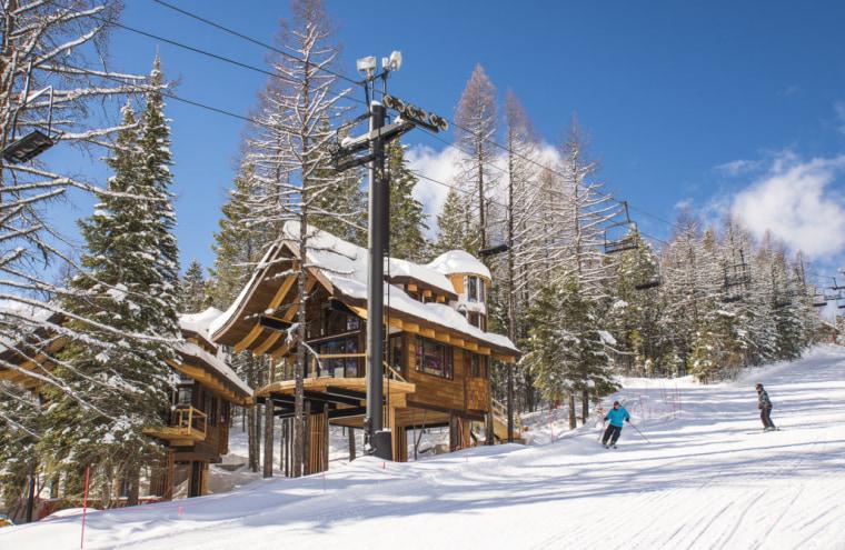 Treehouse ski chalet