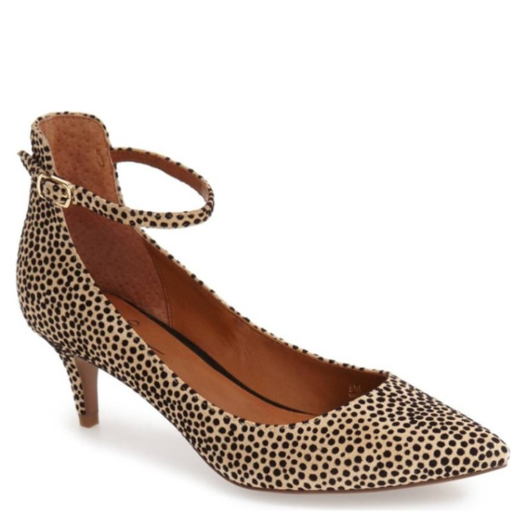 Linea Paolo Cutie Ankle Strap Pointy Toe Pump