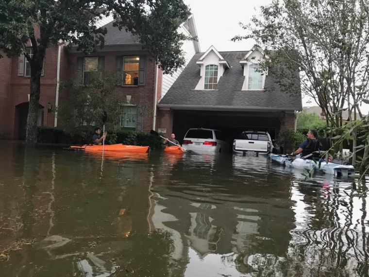 After Hurricane Harvey passed, BJ Rodrigue took his kayak to go help families stranded by the floods. Unbeknownst to him, his wife AJ was struggling to remain conscious while suffering a miscarriage at home.