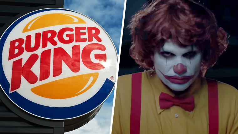Burger King scary clown tease.