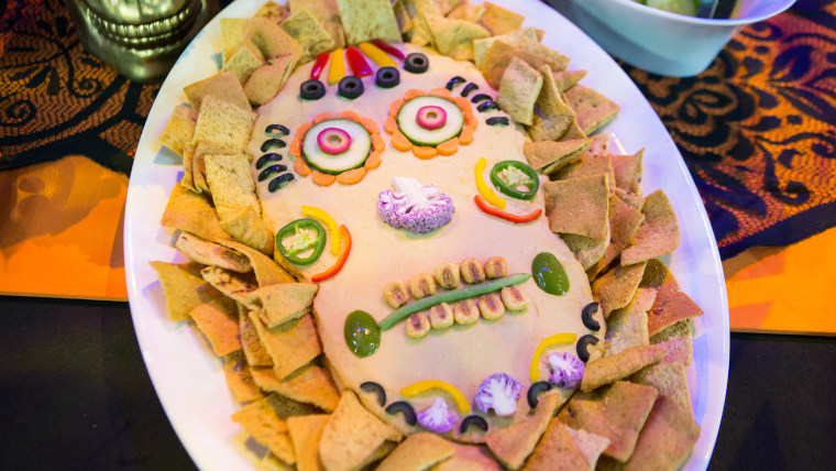 """Day of the Dead"" hummus dip"