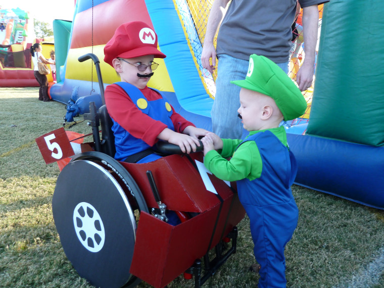 Caleb McLelland was a truly Super Mario brother when he was three years old.