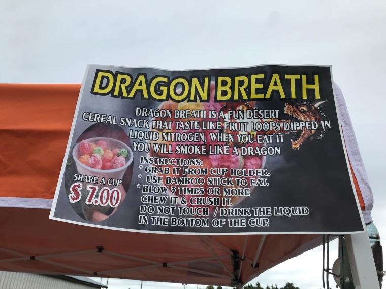 Dragon Breath Liquid Nitrogen Dessert