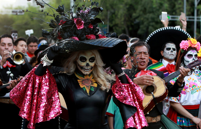 Image: Participants celebrate throughout Mexico City.