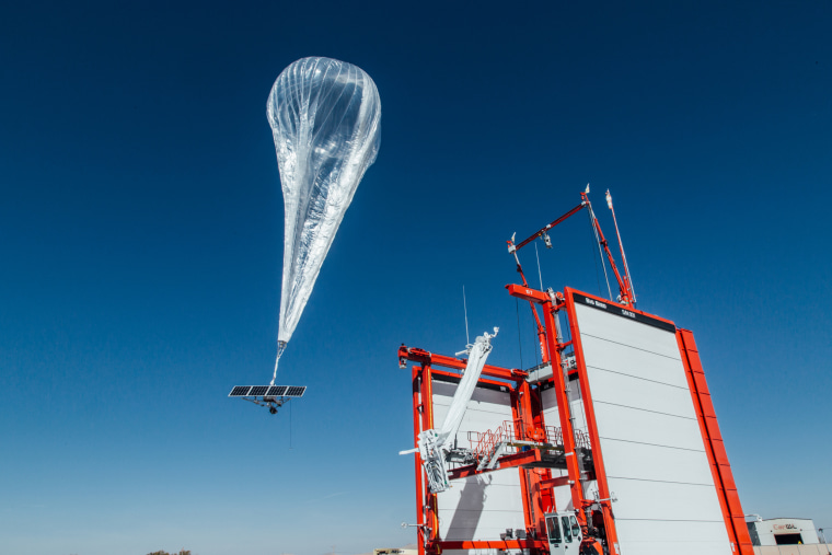 Image: A stratospheric balloon takes off for Puerto Rico from the project site in Winnemucca, Nevada