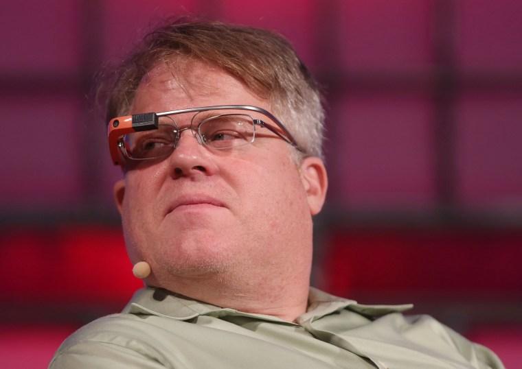 Image: Tech blogger Robert Scoble wears Google Glass at the Dublin web summit