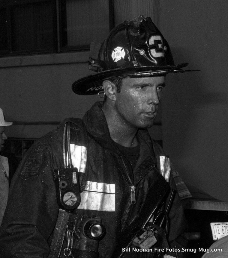 Boston firefighter Glenn Preston on the job.