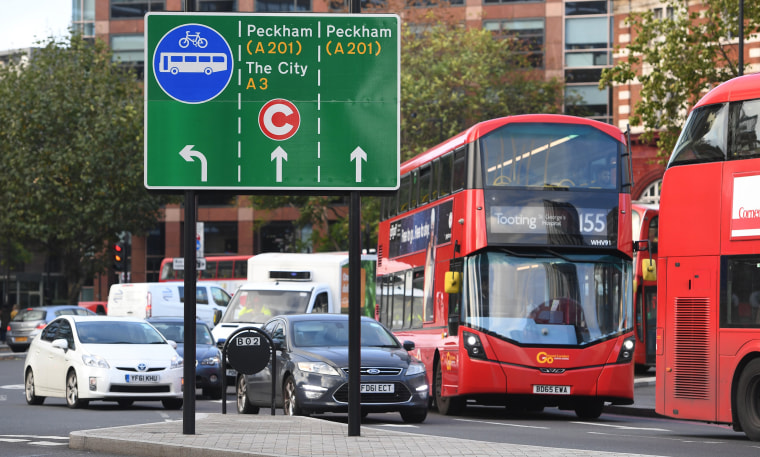 Image: Drivers in central London face a new charge on polluting vehicles