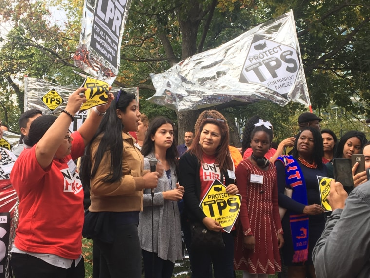 "Temporary Protected Status holders chant ""TPS Yes! Deportation No!"" in Washington D.C."