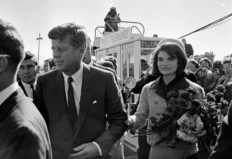 Image: President John F. Kennedy and first lady Jacqueline Kennedy, arrive at Love Field airport in Dalla
