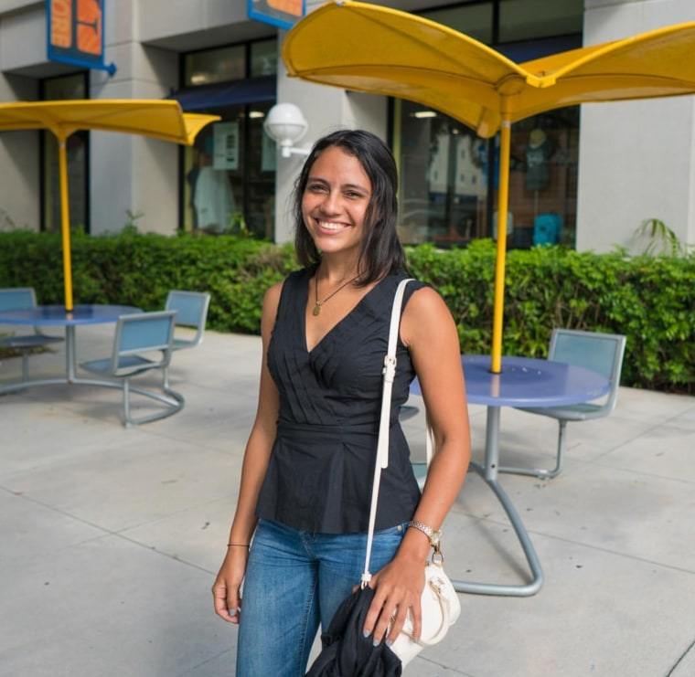 Sarah Colon left Puerto Rico after Hurricane Maria hit the island. She enrolled at Florida International University, which is waiving out-of-state tuition fees for students from Puerto Rico and the U.S. Virgin Islands.
