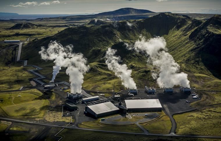 Image: The Climeworks Hellisheidi power plant in Iceland
