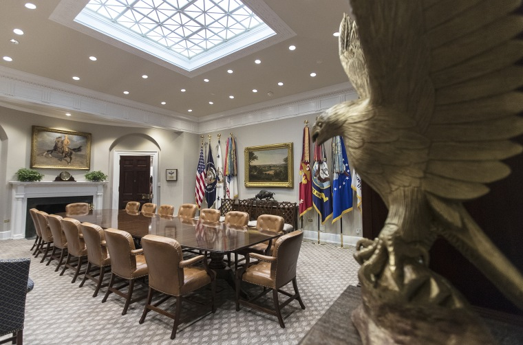 Image: The newly renovated Roosevelt Room of the White House