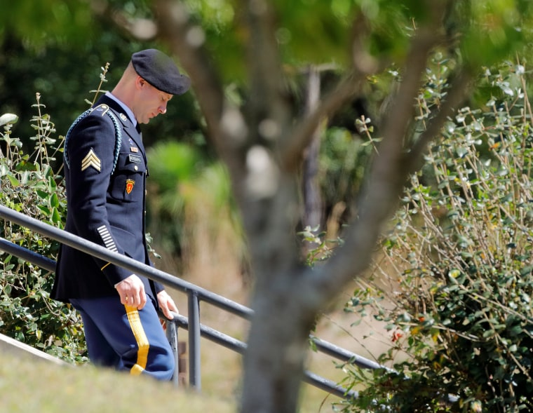 Image: U.S. Army Sergeant Bowe Bergdahl leaves the courthouse at the end of the third day of sentencing proceedings in his court martial at Fort Bragg, North Carolina
