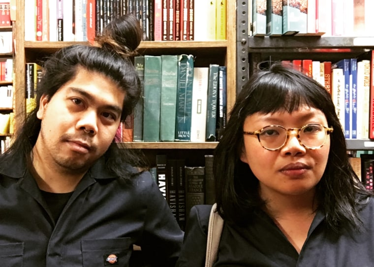 PAL organizers P.J. Policarpio and Emmy Catedral at the Strand bookstore in New York City.