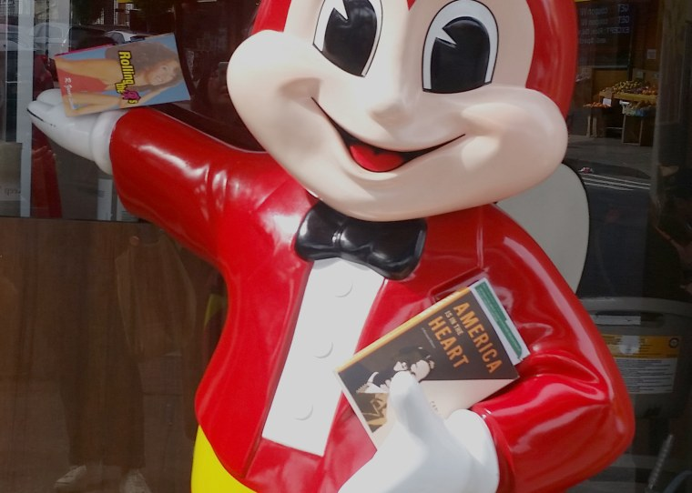 PAL books at a Jollibee restaurant in the community of Woodside in New York City.