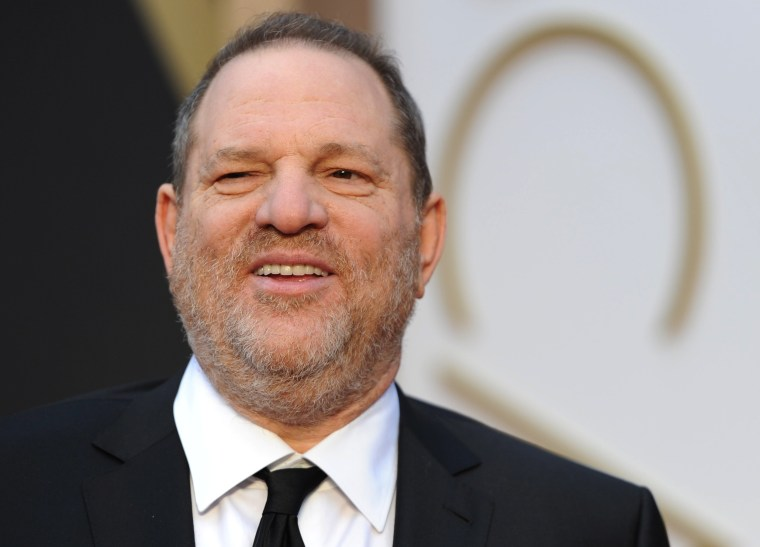 Image: Harvey Weinstein arrives on the red carpet for the 86th Academy Awards in Hollywood