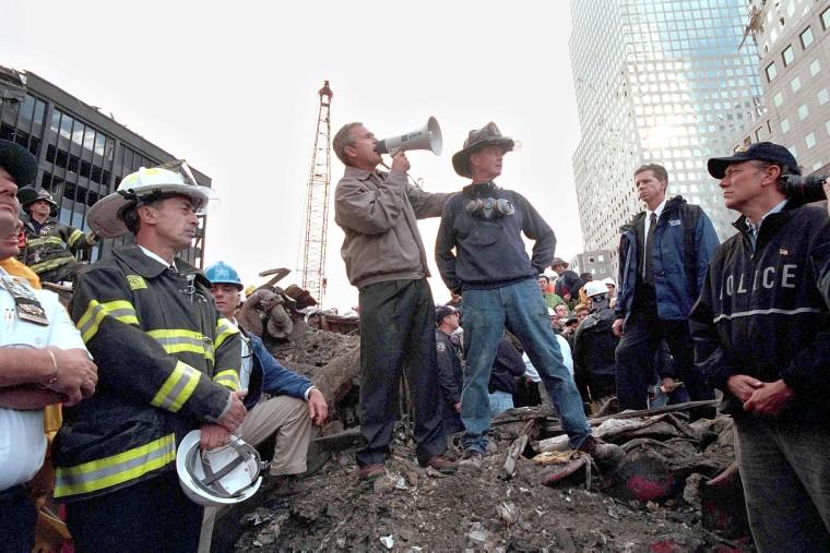 Image: Bush Speaks At Ground Zero