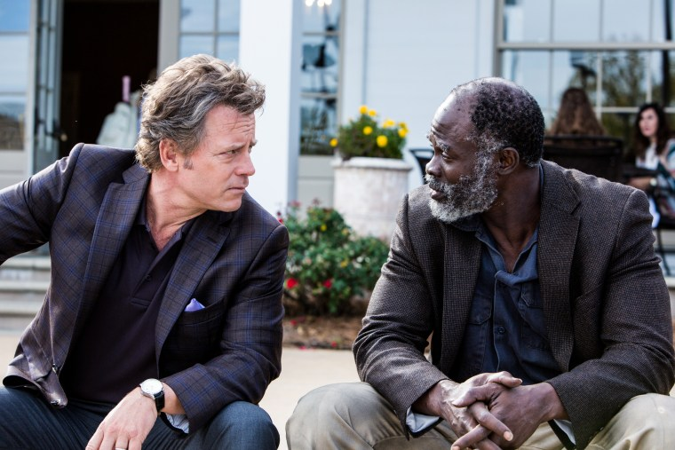 "Image: Greg Kinnear and Djimon Hounsou in ""Same Kind of Different as Me."""
