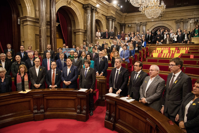 Image: Pivotal Day For Catalan Independence As Crisis Comes To A Head