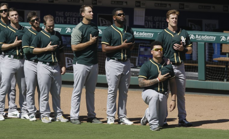Image: Bruce Maxwell, Mark Canha