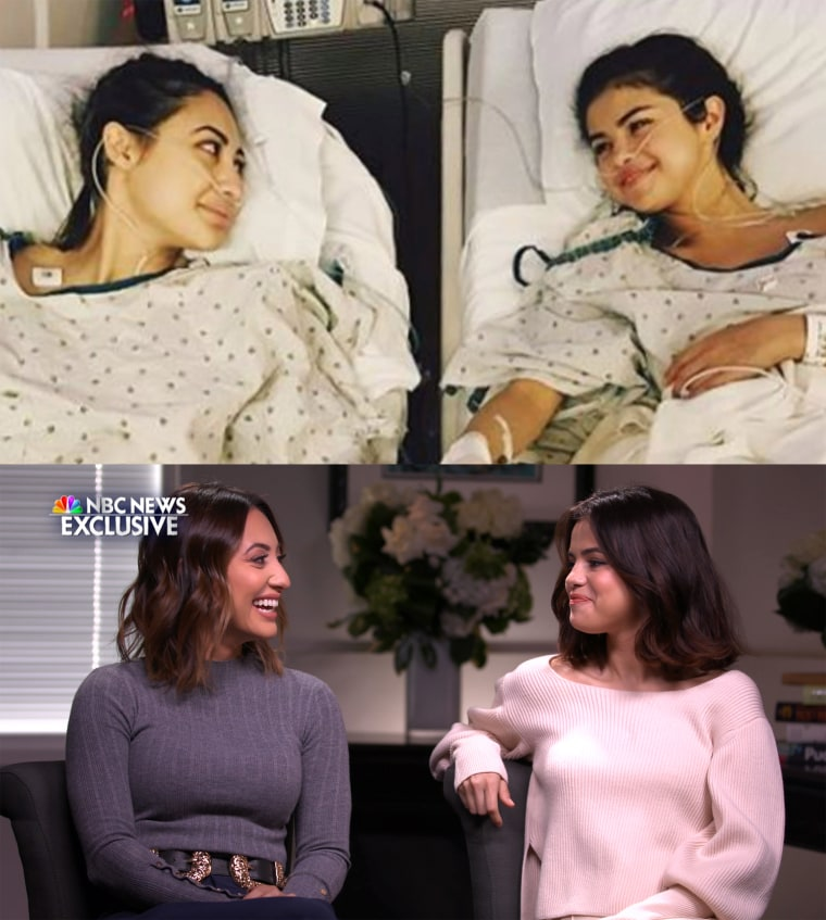 Francia Raísa and Selena Gomez credit their faith and their long friendship for their health journey.