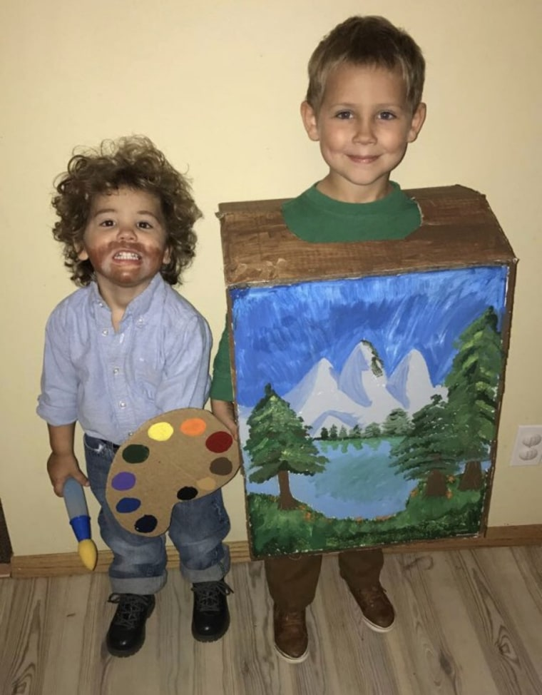 bob ross and his happy little painting