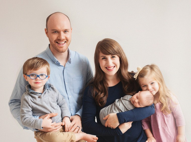 Tim and Michelle Saffeels have had three children, Nora, 4, Toby, 2 and Lewis, 1, since their first son, Ezra, died in 2012.
