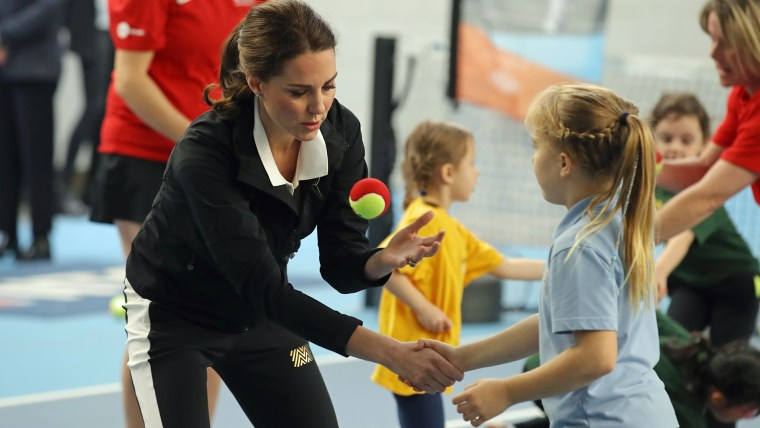 Duchess of Cambridge visits the LTA