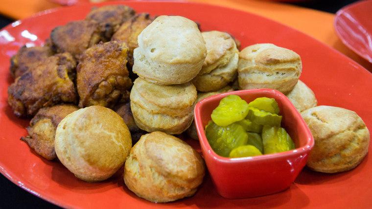 Ryan Scott's Nashville Fried Chicken, Biscuits, Spooky Halloween Ghost Berries