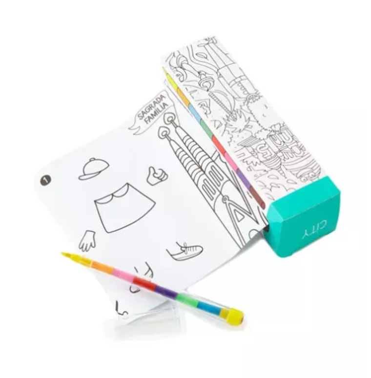 Pocket coloring book