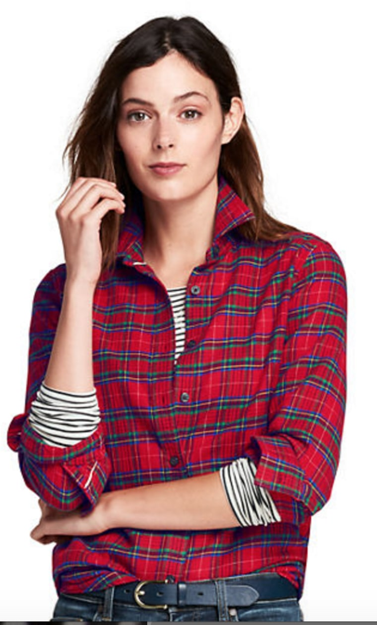 Land's End flannel