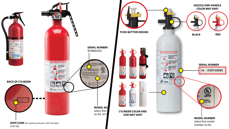 Fire extinguisher recall
