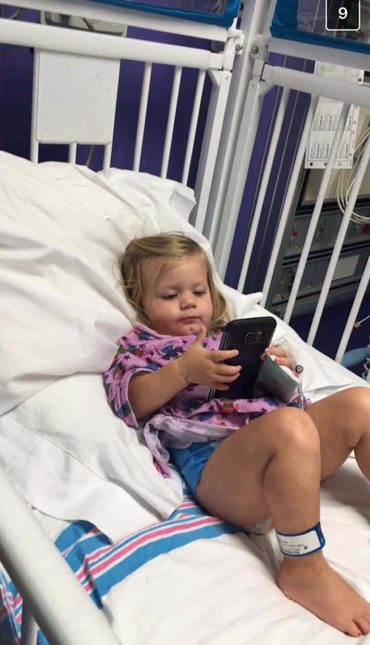 After Anna Grace started stumbling and shaking, mom Allyson Fuller took her to the doctor where they discovered she had cancer and a neurological condition. Even though she hated being cooped up, Anna Grace was a good patient.