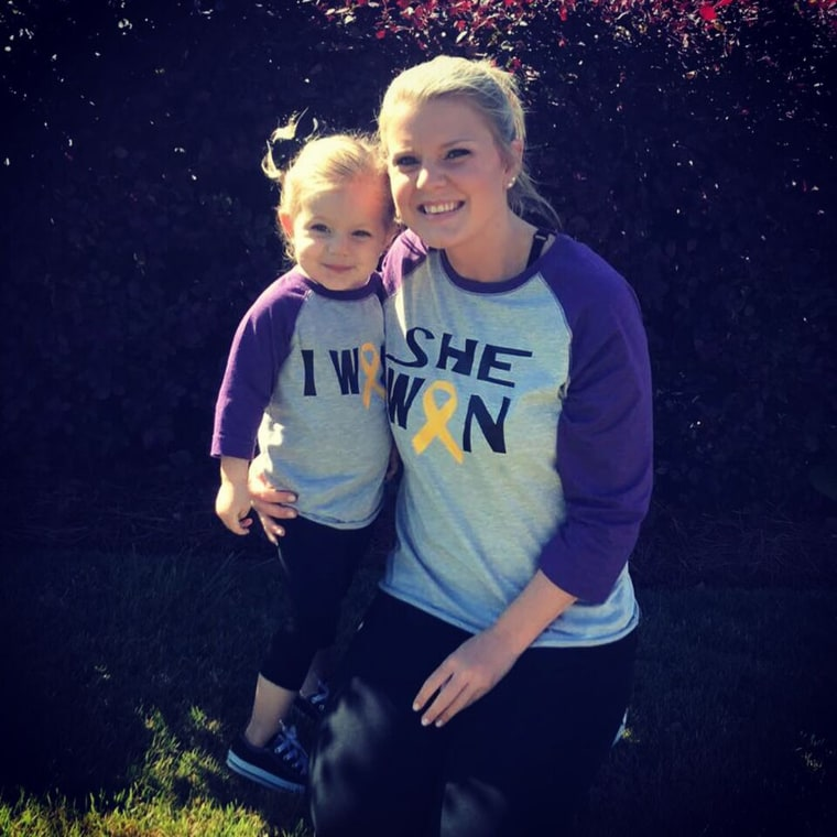 Anna Grace Wheelus is a spunky and independent 3-year-old. Battling cancer hasn't slowed the toddler down.