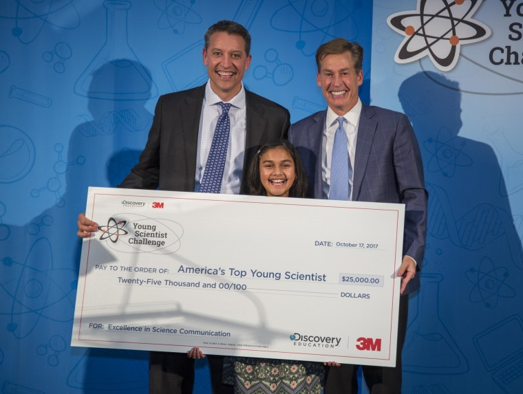 Gitanjali Rao won $25,000 in the 2017 Discovery Education 3M Young Scientist Challenge.