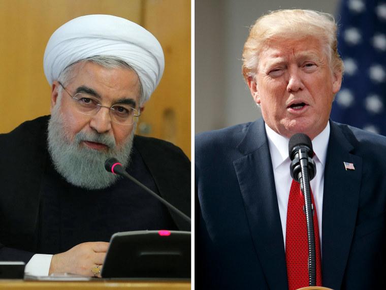 Image: Hassan Rouhani; Donald Trump