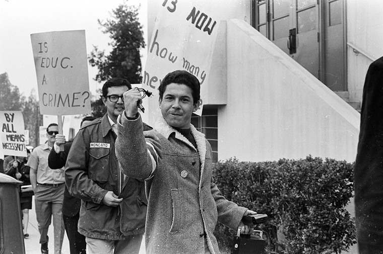 Photograph by La Raza Photographic Staff, East L.A. High School Walkouts, 1968. La Raza Newspaper & Magazine Records, Coll. 1000. Courtesy of the UCLA Chicano Studies Research Center.