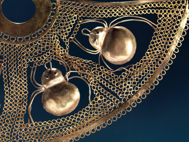 Nose Ornament with Spiders (detail), 1st century BCE-2nd century CE. Salinar culture. Gold. The Metropolitan Museum of Art, The Michael C. Rockefeller Memorial Collection, Bequest of Nelson A. Rockefeller. Image (C) The Metropolitan Museum of Art.