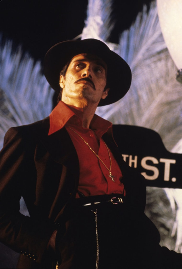 Actor and director Edward James Olmos as El Pachuco in a scene from Zoot Suit (1981). Courtesy of Universal Studios Licensing LLC.