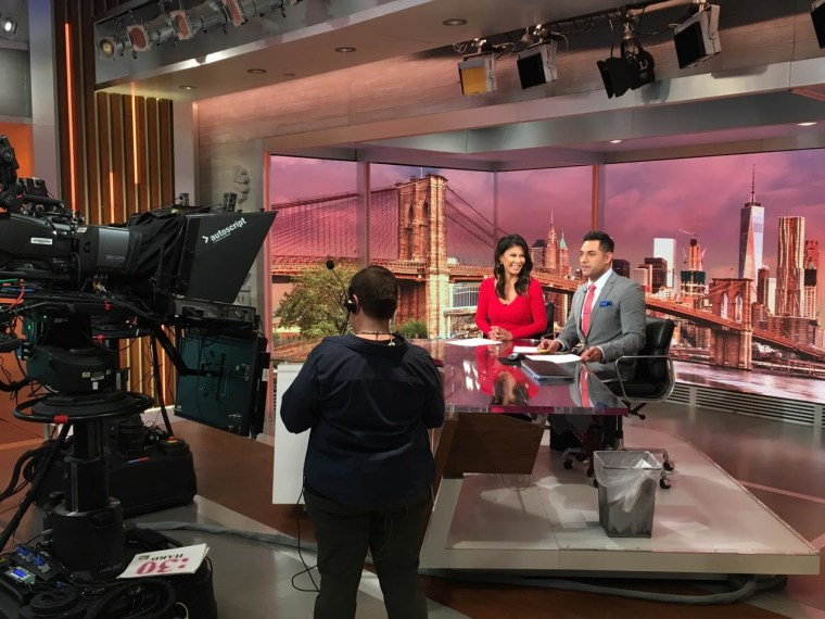 Phillip Mena and Frances Rivera during broadcast of NBC's Early Today.