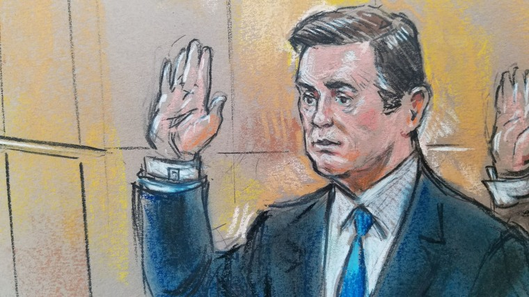 Image: Manafort appears in the  U.S. Federal Court