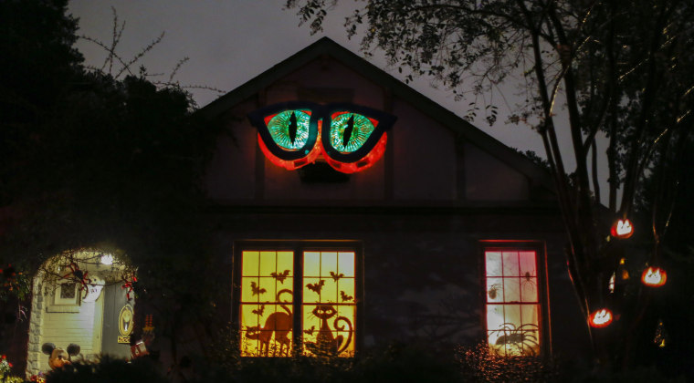 Image: A house is decorated for Halloween in Avondale Estates, Georgia on Oct. 28.