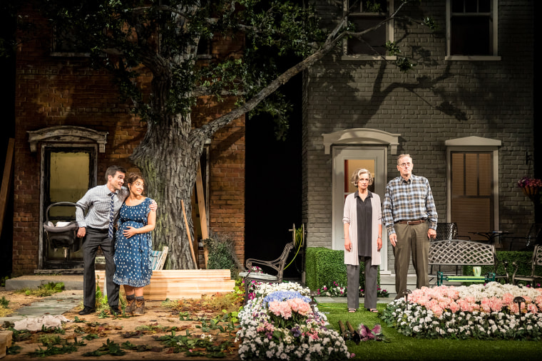 """A scene from the play """"Native Gardens"""" by acclaimed playwright Karen Zacarias."""